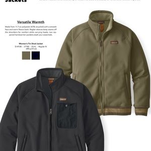 Patagonia Tin Shed Dark Ash Olive Green Jacket